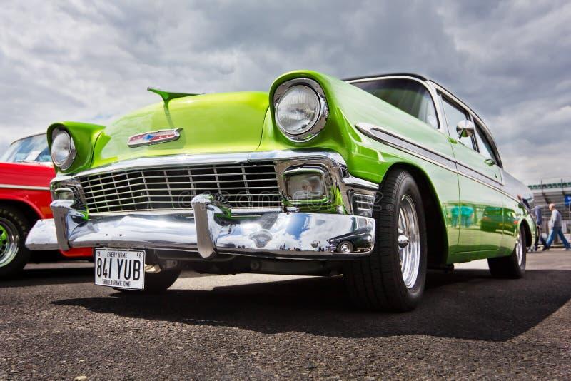 Het Groene Bel Air Chevrolet van uitstekende 1956 stock afbeelding