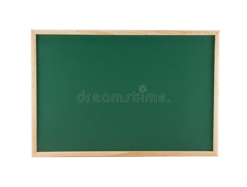 Het groene Bord met houten kader dat op witte achtergrond, textuur voor tekst wordt geïsoleerd adverteert stock foto