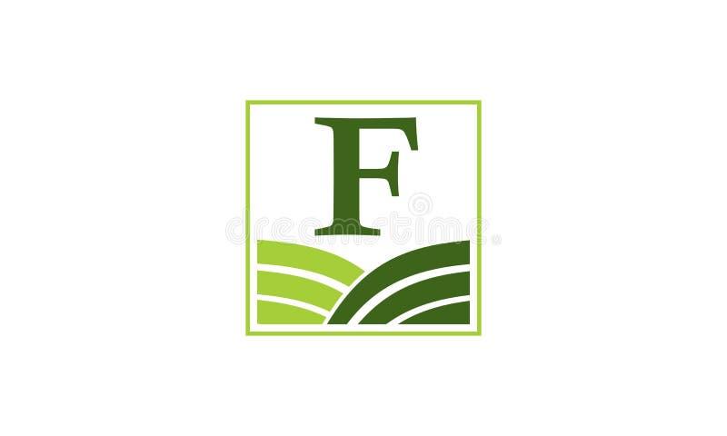 Het groene Centrum Aanvankelijk F van de Projectoplossing vector illustratie
