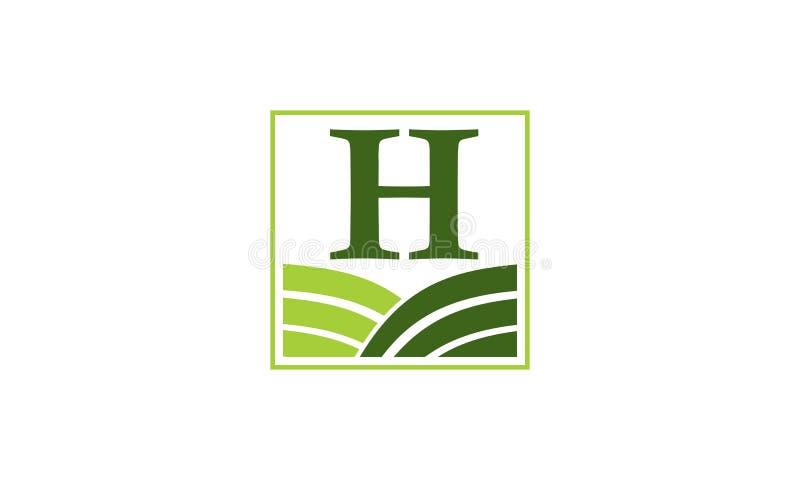 Het groene Centrum Aanvankelijk H van de Projectoplossing royalty-vrije illustratie