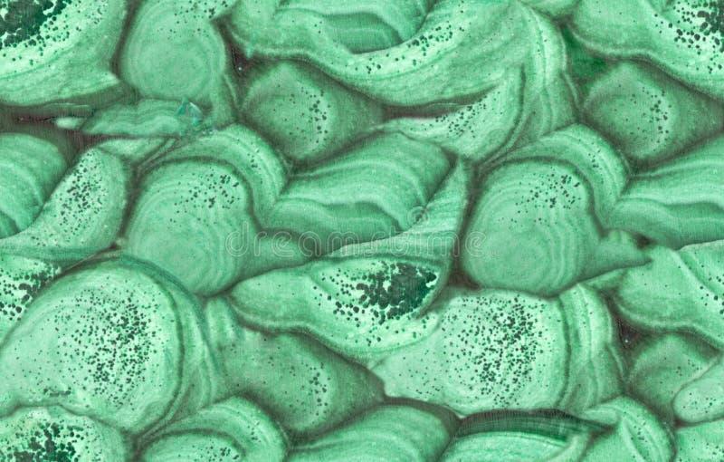 Het groene close-up van de malachiet naadloze textuur stock foto's