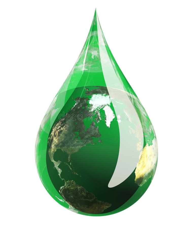 Het groene Druppeltje van de Aarde royalty-vrije illustratie