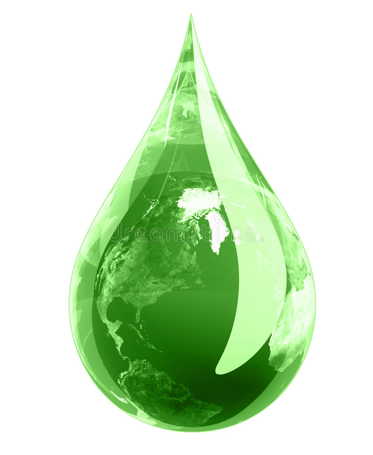 Het groene Druppeltje van de Aarde vector illustratie