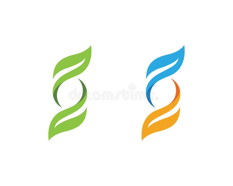 Het groene element van de de ecologieaard van het Boomblad royalty-vrije illustratie