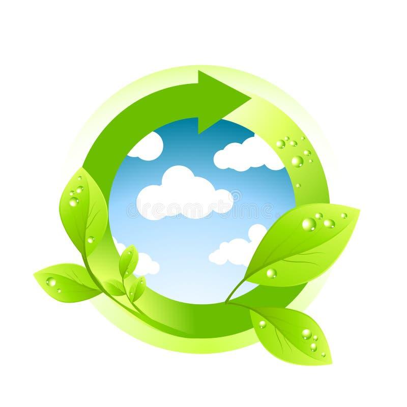 Het groene Element van het Milieu royalty-vrije illustratie
