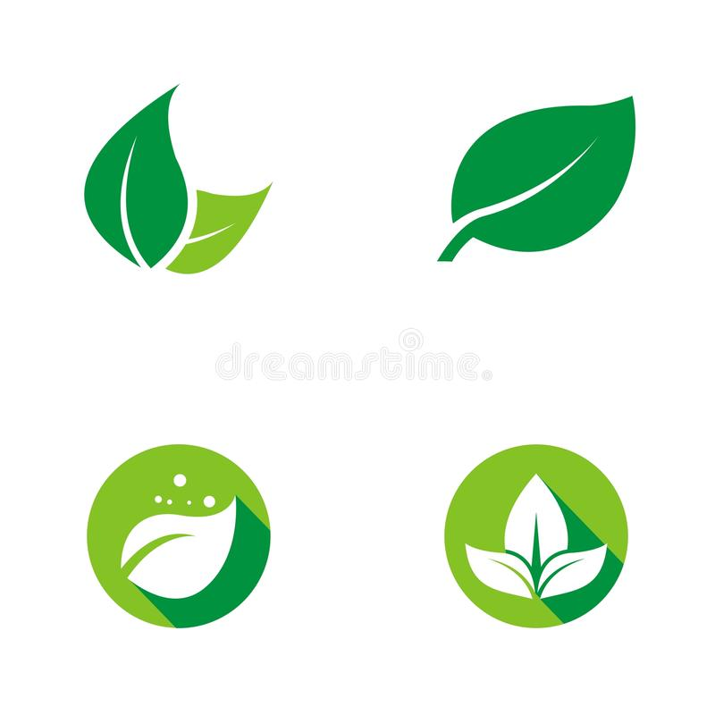 Het groene Embleem van het Blad royalty-vrije illustratie