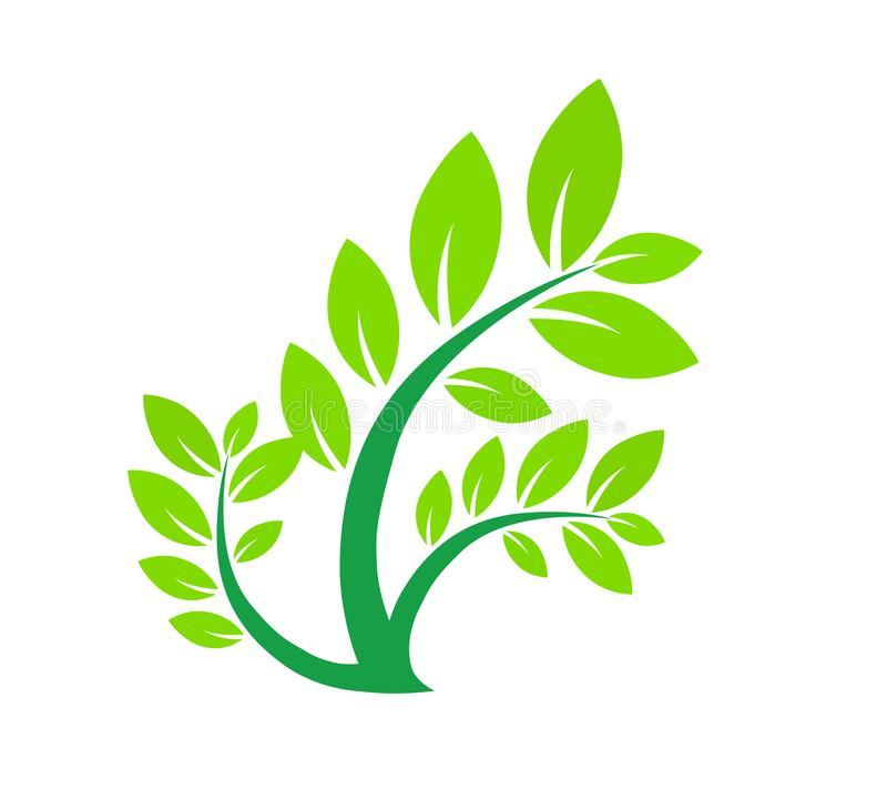 Het groene Embleem van het Blad stock illustratie