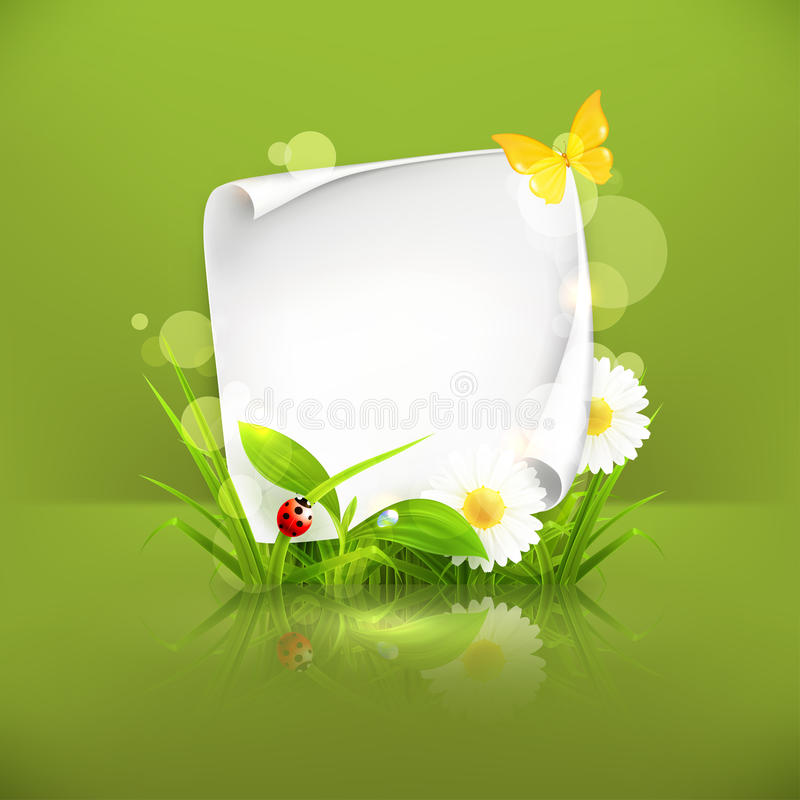 Het groene frame van de lente, stock illustratie