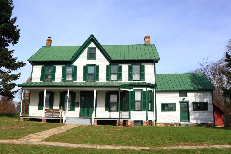 Het groene Huis van het Landbouwbedrijf royalty-vrije stock foto