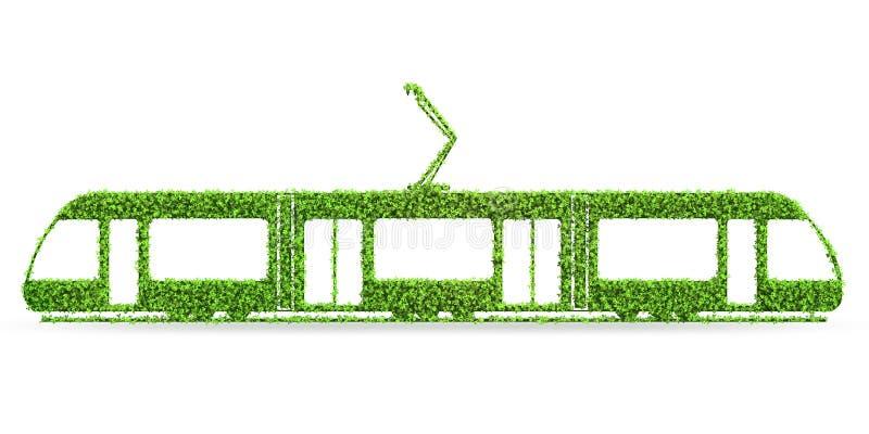 Het groene lage concept van het emissie eclectische voertuig - het 3d teruggeven vector illustratie