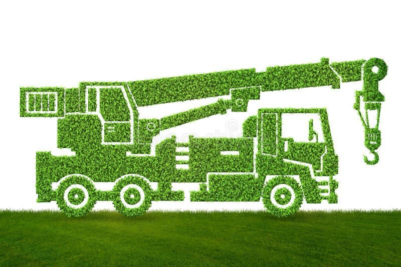 Het groene lage concept van het emissie eclectische voertuig - het 3d teruggeven royalty-vrije illustratie