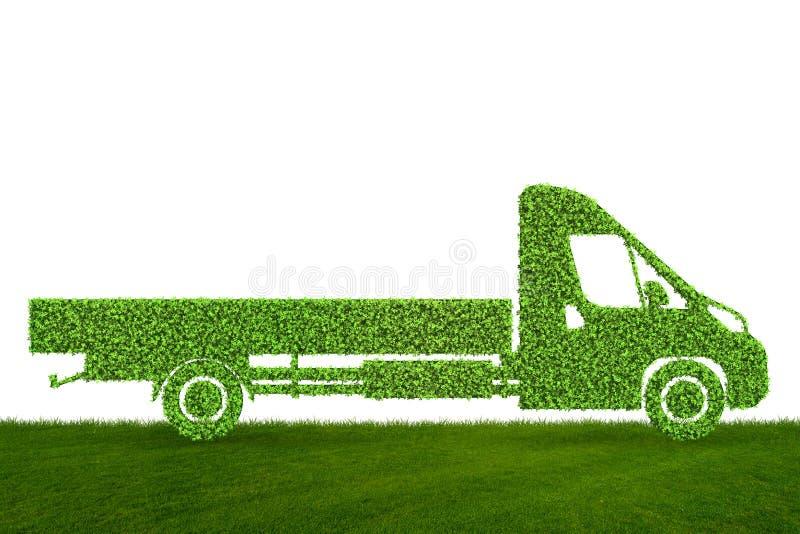 Het groene lage concept van het emissie eclectische voertuig - het 3d teruggeven stock illustratie