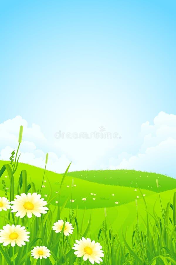 Het groene Landschap van de Aard stock illustratie