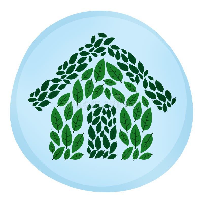 Het Groene Leven van het Huis van Eco vector illustratie