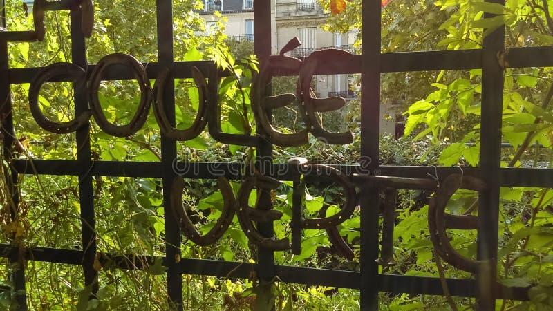 Het groene milieu van Coulee verte Parijs Frankrijk stock foto's