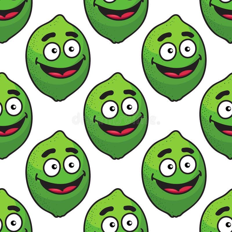 Het groene naadloze patroon van het avocadofruit stock illustratie