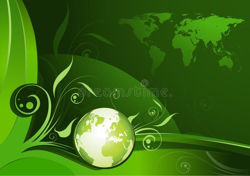 Het groene ontwerp van de Aarde royalty-vrije illustratie