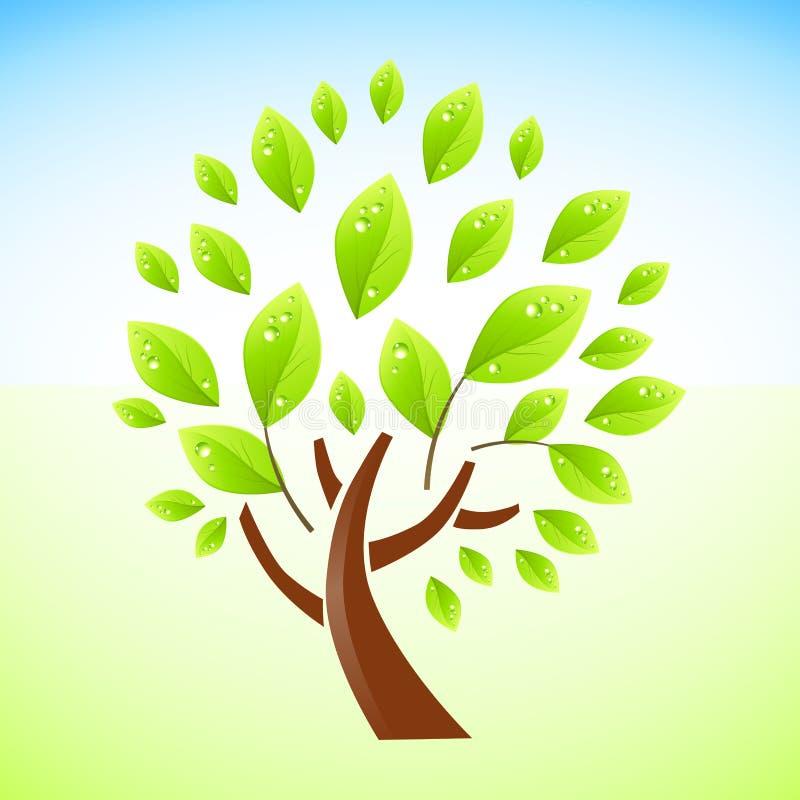 Het groene Ontwerp van de Boom vector illustratie