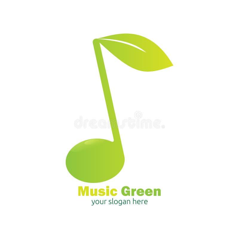 Het groene ontwerp van het muziekembleem stock illustratie