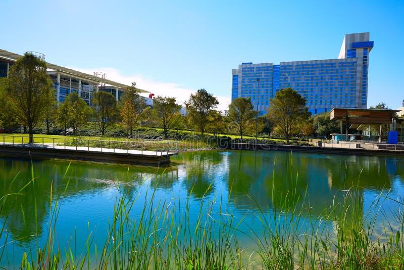 Het groene park van Houston Discovery binnen van de binnenstad royalty-vrije stock foto's