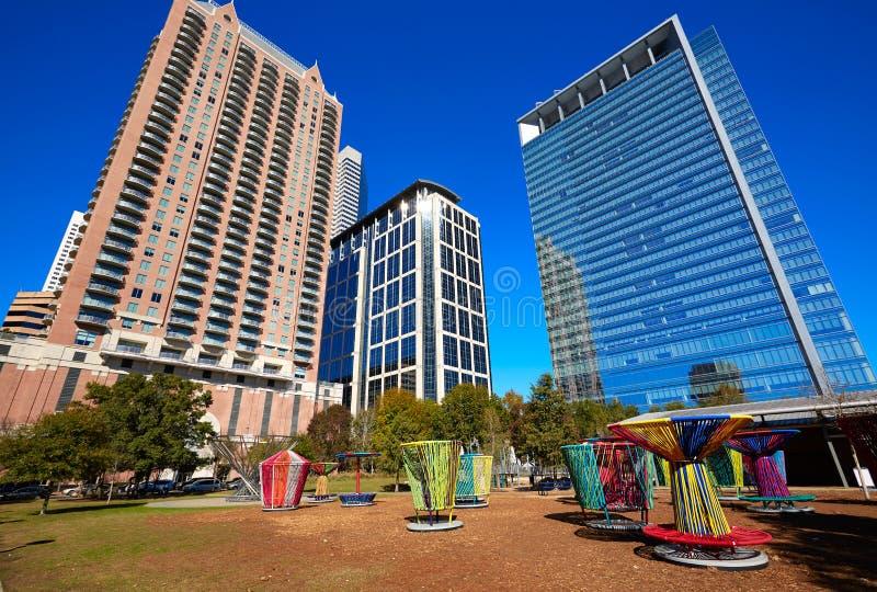Het groene park van Houston Discovery binnen van de binnenstad royalty-vrije stock fotografie