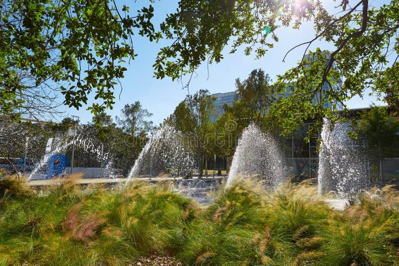 Het groene park van Houston Discovery in Texas stock foto's