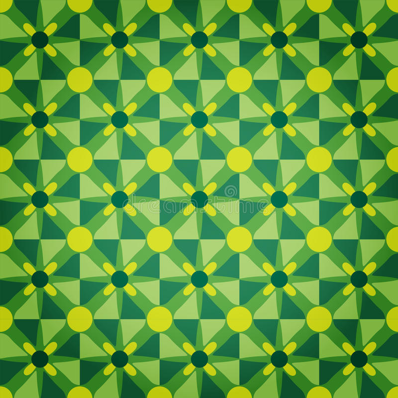 Het groene Patroon van de Ster van het Mozaïek royalty-vrije illustratie