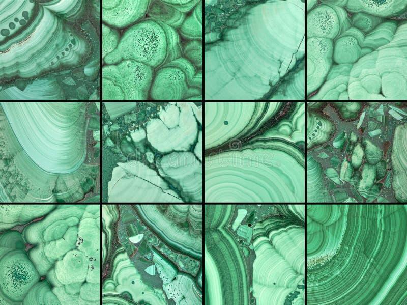 Het groene patroon van malachietstenen royalty-vrije stock foto