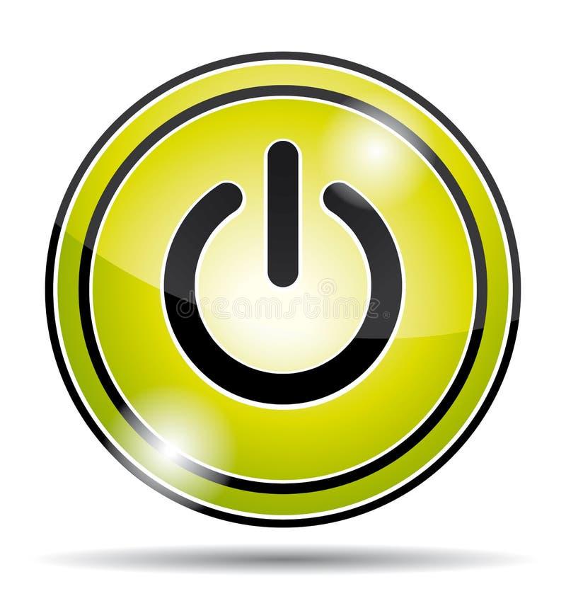 Het groene pictogram van de elektromachtsknoop royalty-vrije illustratie