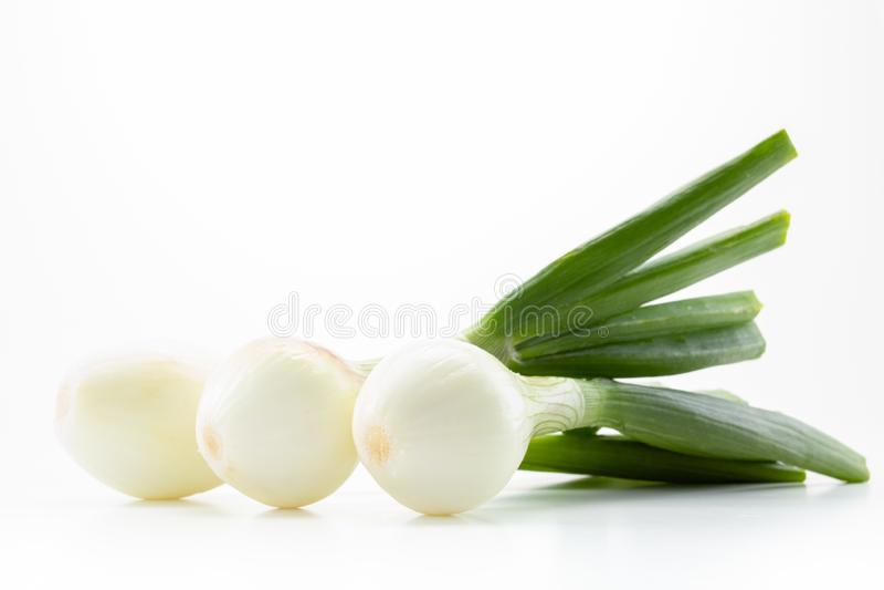 Het groene plantaardige gezonde ingrediënt van het ui verse voedsel, royalty-vrije stock foto's
