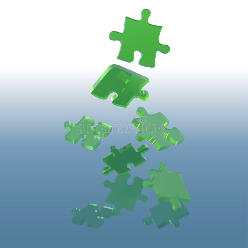 Het groene Raadsel van het Glas vector illustratie