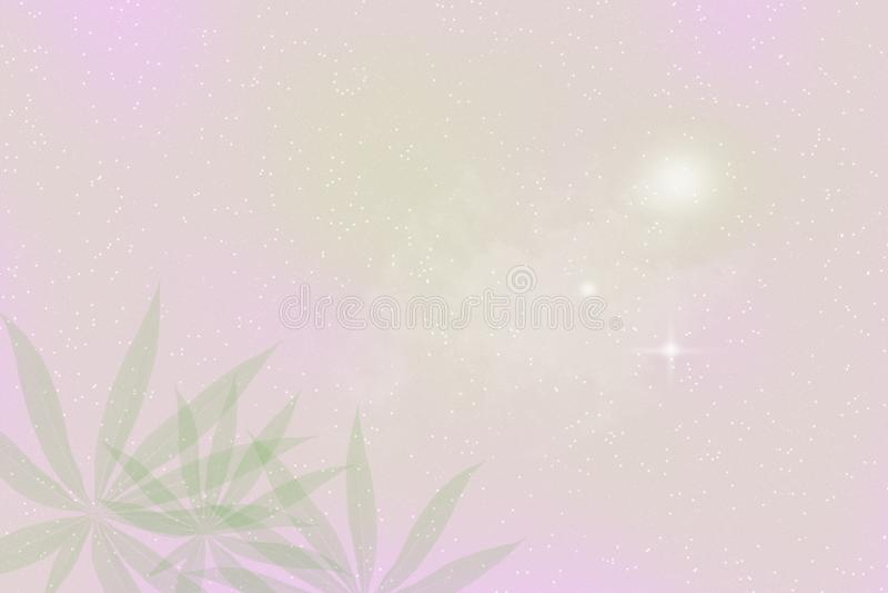 Het groene roze verlaat achtergrond, Abstract onduidelijk beeld stock foto's