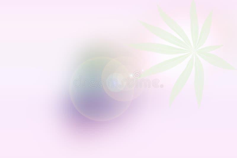 Het groene roze verlaat achtergrond, Abstract onduidelijk beeld stock afbeelding