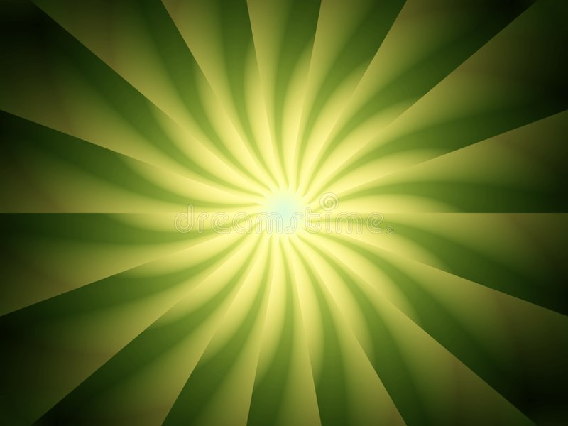 Het groene Spiraalvormige Ontwerp van Lichte Stralen stock illustratie