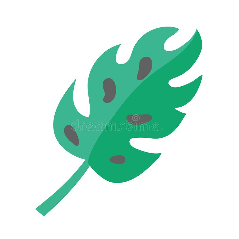 Het groene symbool van de bladaard stock illustratie