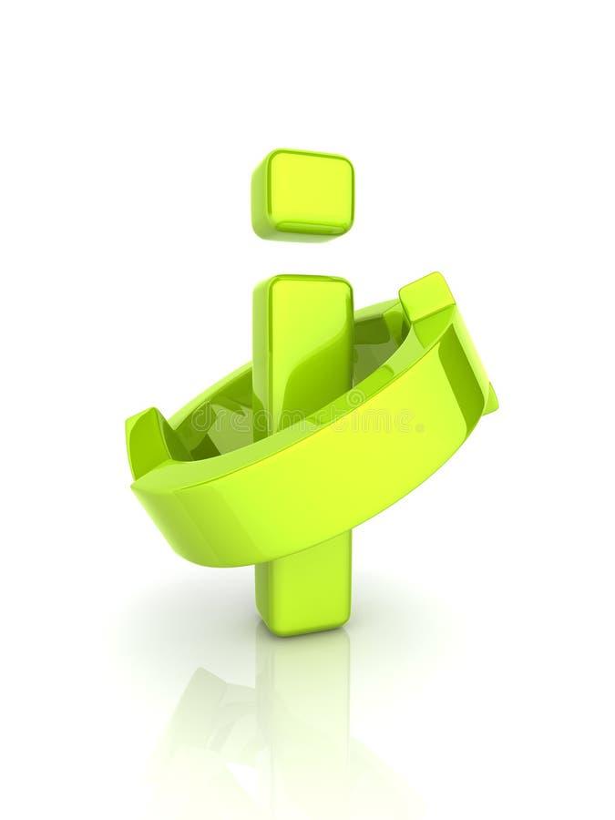 (Het groene) symbool van de informatie royalty-vrije illustratie