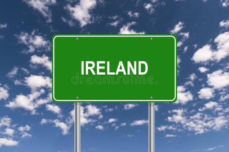 Het groene Teken van Ierland stock illustratie