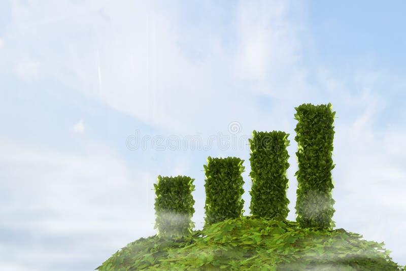 Het groene verse diagram van de grasgroei stock afbeelding