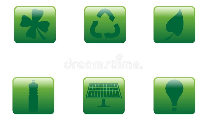 Download Het Groene Vierkant Van Knopen Vector Illustratie - Illustratie bestaande uit efficiency, milieu: 29507296