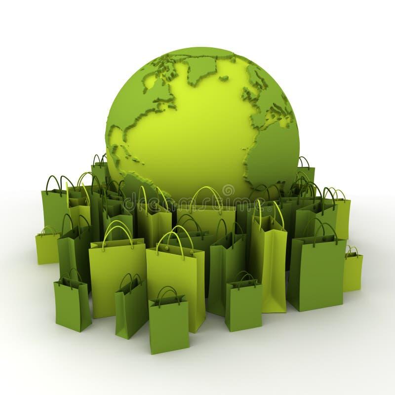 Het groene winkelen vector illustratie