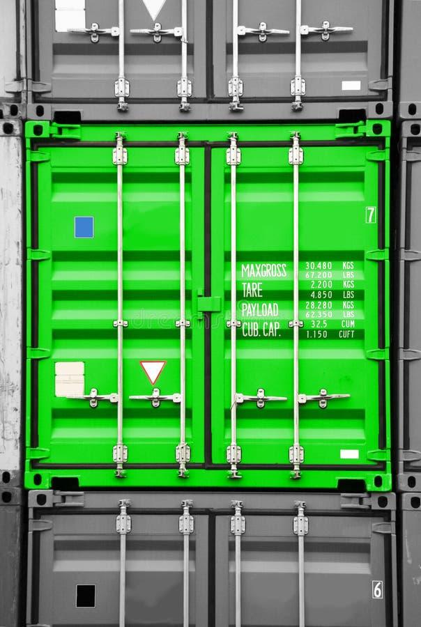 Het groene zwart/wit van de container royalty-vrije stock afbeelding