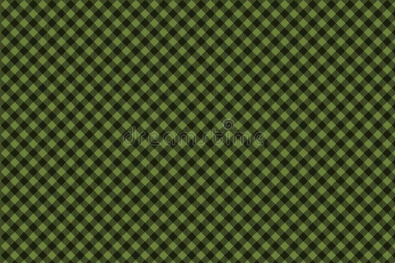 Het groene Zwarte naadloze patroon van de Houthakkersplaid royalty-vrije illustratie