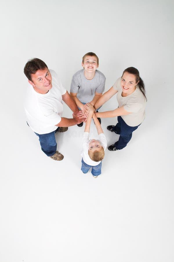 Het groepswerk van de familie stock fotografie