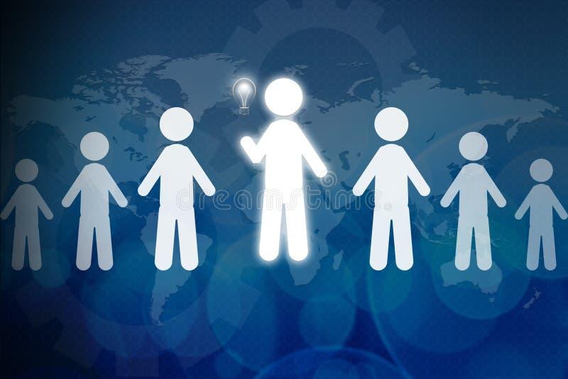 Het groepswerk van de talentenpersoon vector illustratie