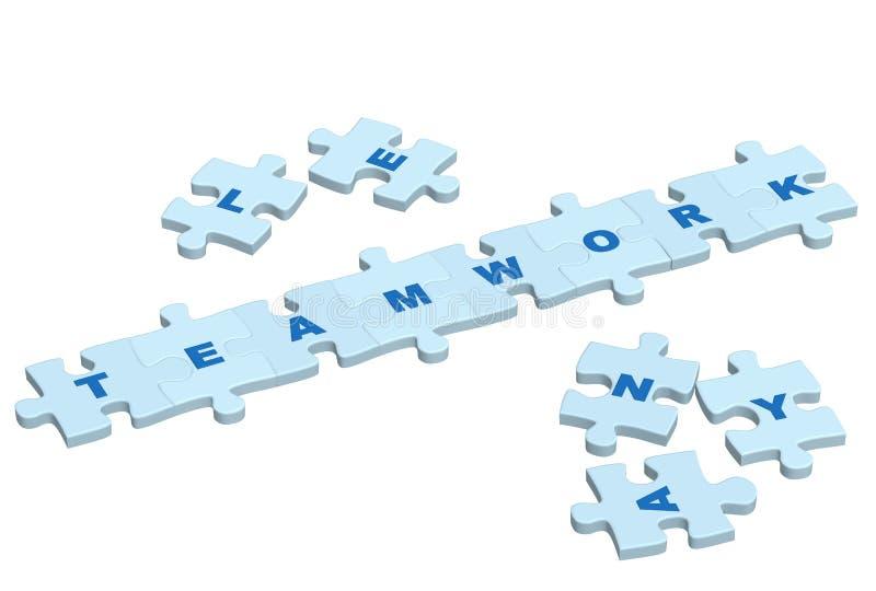 Word Groepswerk Van Plakken Van Een Raadsel Stock Afbeeldingen