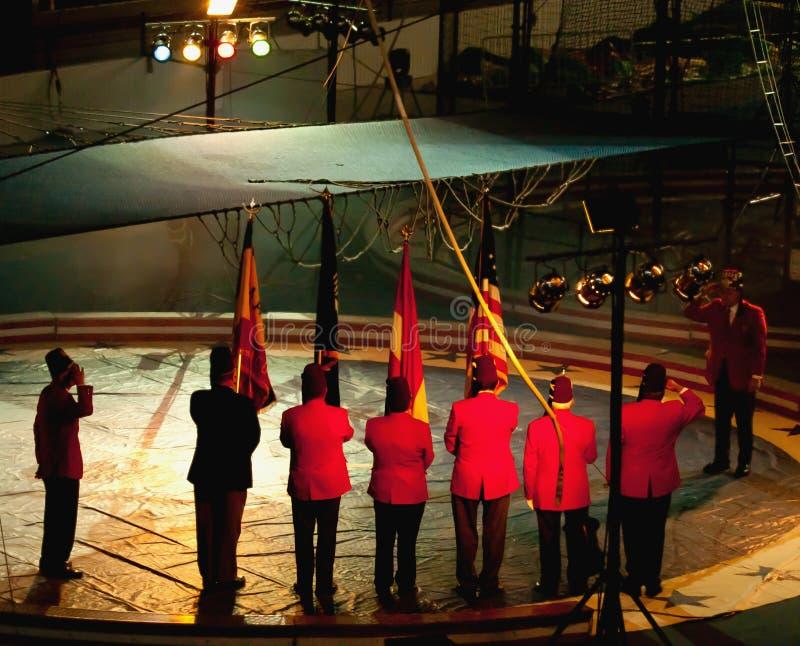 Het groeten van Shriners tijdens volkslied royalty-vrije stock fotografie