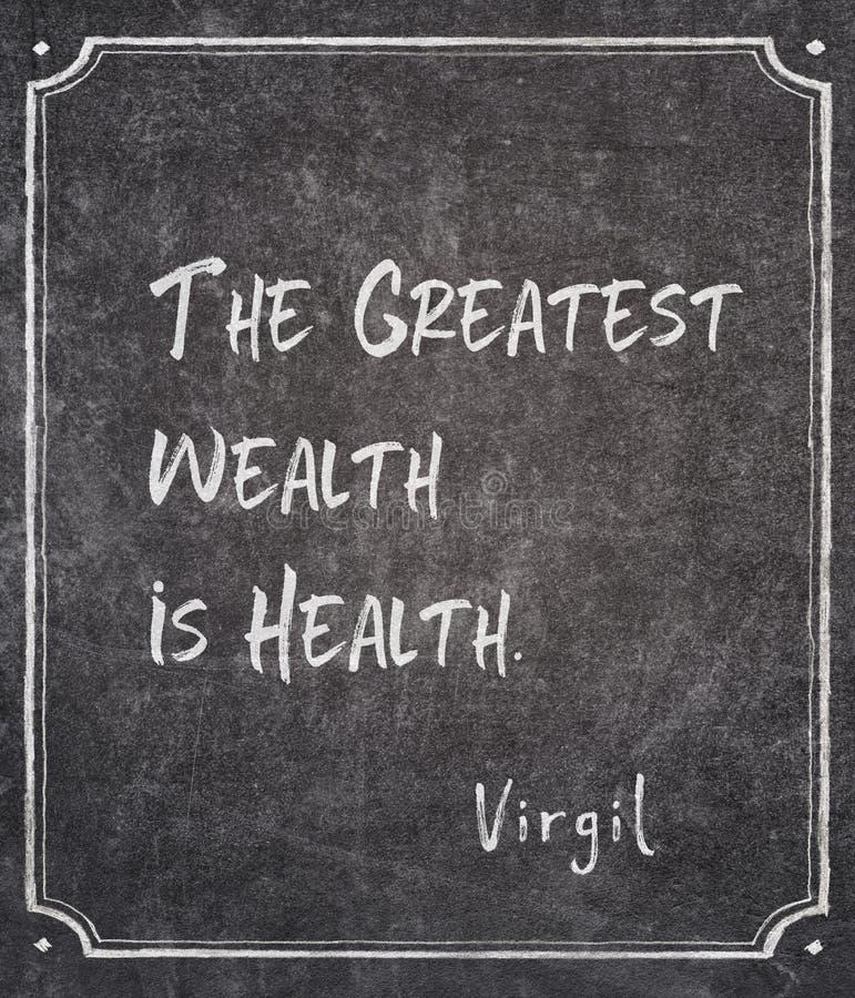 Het grootste citaat van rijkdomvirgil royalty-vrije stock foto's