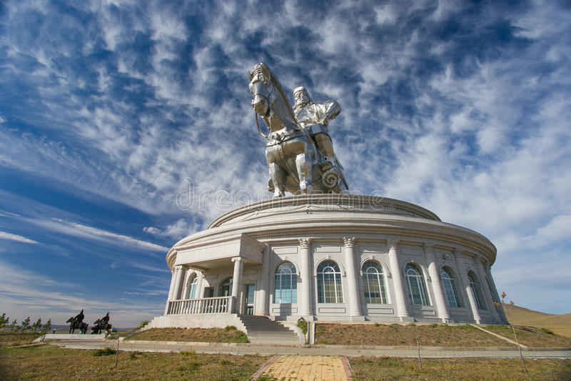 Het grootste standbeeld van de wereld van Genghis Khan royalty-vrije stock foto's