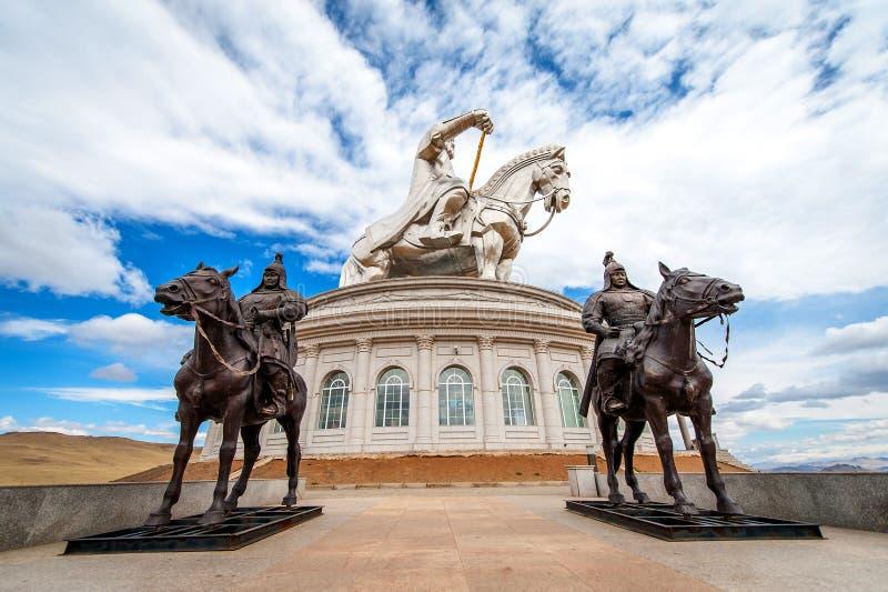 Het grootste standbeeld van de wereld van Genghis Khan stock afbeelding