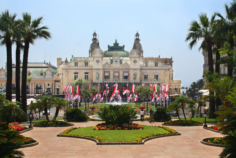 Het grote Casino in Monaco royalty-vrije stock foto